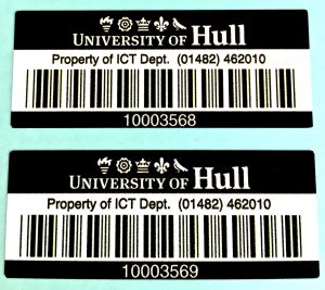 Barcode labels for universities.