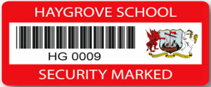 Security asset label digitally printed