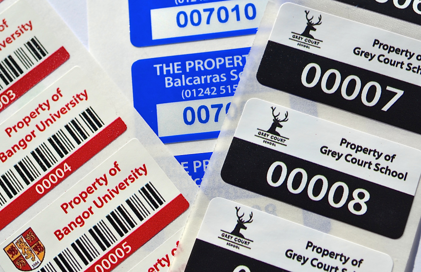 Asset Labels for Schools and Academies. Buy direct and save money.