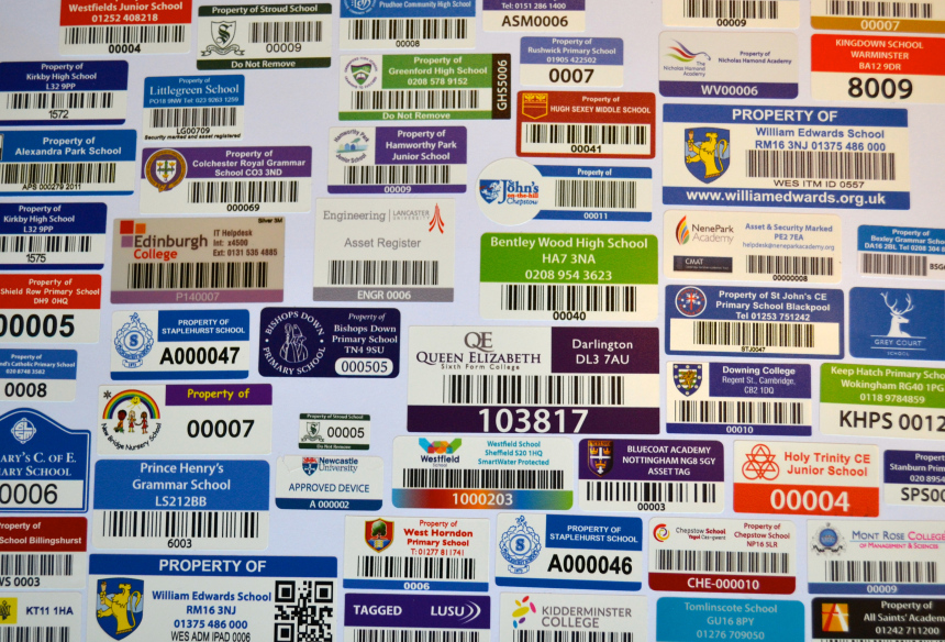 Easy to design and order barcode asset labels online