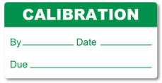 Custom calibration label