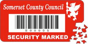 Security labels for school equipment - Asset Labels for Schools